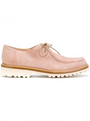 Лоферы со шнуровкой Unützer. Цвет: розовый и фиолетовый