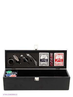 Набор подарочный в деревянной коробке Magic Home. Цвет: черный, белый
