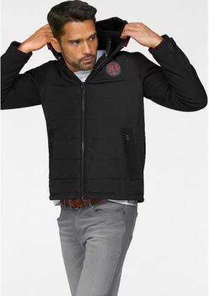 Стеганая куртка Rhode Island. Цвет: черный