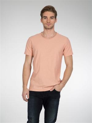 Футболка Colin's. Цвет: розовый