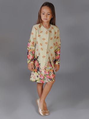 Пальто Fleur de Vie. Цвет: зеленый, кремовый