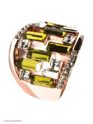 Кольцо Bijoux Land. Цвет: золотистый, светло-зеленый
