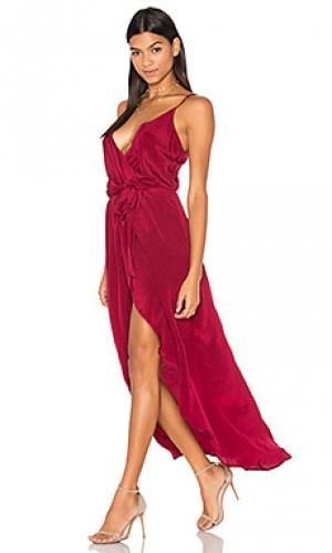 Макси платье egypt Karina Grimaldi. Цвет: вишня