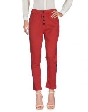 Повседневные брюки BOUTIQUE de la FEMME. Цвет: красно-коричневый