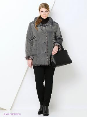 Куртка Azule. Цвет: серый