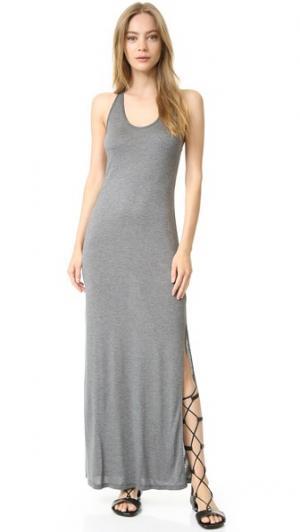 Платье без рукавов Haute Hippie. Цвет: угольно-серый меланж