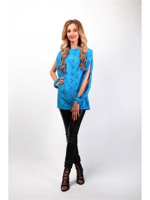 Блузка Glam Goddess. Цвет: лазурный