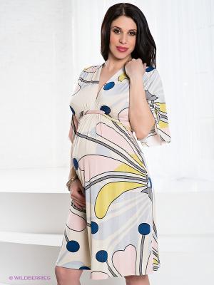 Платье Olian. Цвет: белый, серый, розовый, горчичный