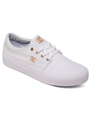 Кеды DC Shoes. Цвет: белый, коричневый