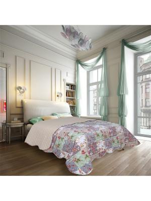 Покрывало Puzzles 2 спальное Евро Amore Mio. Цвет: зеленый, бежевый, серый