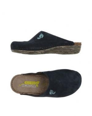 Домашние туфли MISS ROBERTA. Цвет: темно-синий