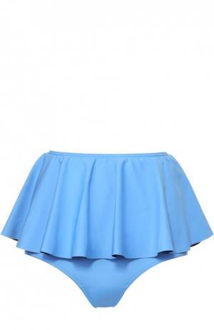 Плавки-бикини со съемной баской NATAYAKIM. Цвет: голубой