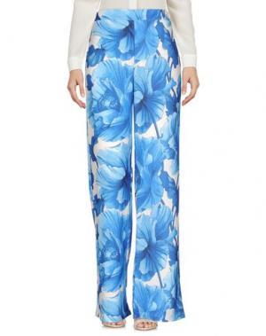 Повседневные брюки PINK MEMORIES. Цвет: синий