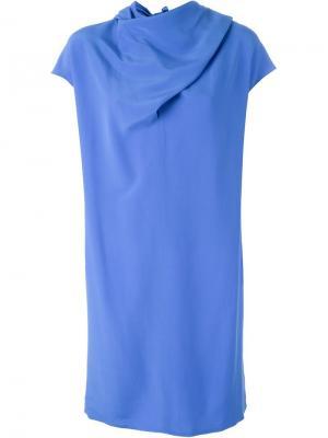 Платье с узлом Nina Ricci. Цвет: синий