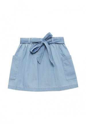 Юбка джинсовая Button Blue. Цвет: голубой