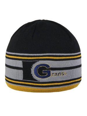 Шапка Grans. Цвет: темно-синий, серый, желтый