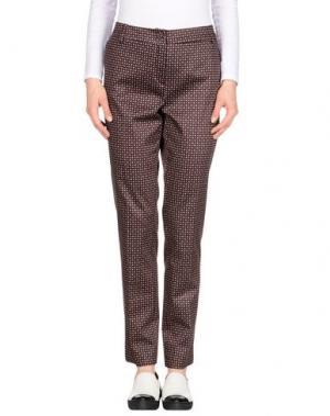 Повседневные брюки GIGUE. Цвет: красно-коричневый