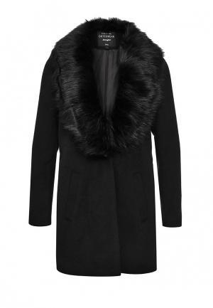 Пальто Jennyfer. Цвет: черный