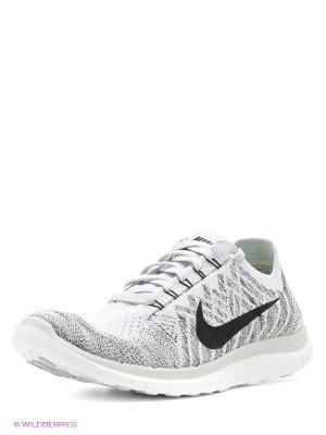 Кроссовки Nike. Цвет: кремовый, белый, сиреневый