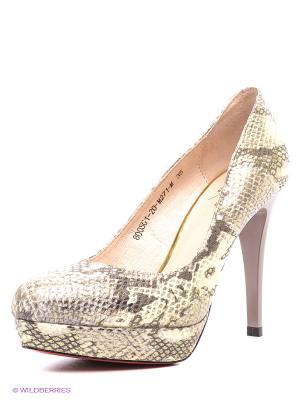 Туфли Sinta Gamma. Цвет: серый, бежевый, золотистый