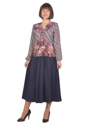 Блузка Томилочка Мода ТМ. Цвет: синий, розовый, сиреневый
