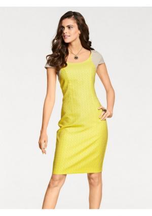 Платье PATRIZIA DINI. Цвет: желтый