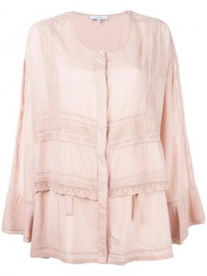 Блузка Apie Iro. Цвет: розовый и фиолетовый