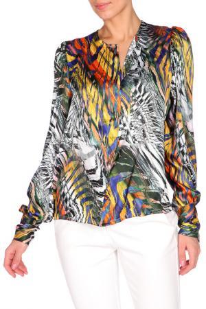 Блуза Royal Box. Цвет: серый, желтый