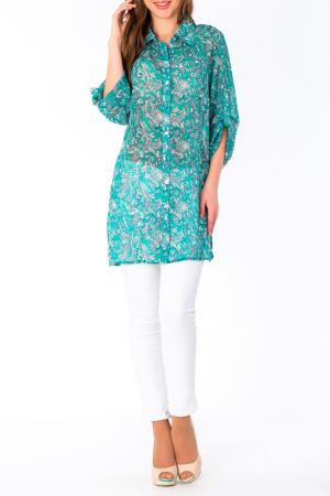 Блуза S&A style. Цвет: зелено-белый