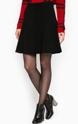 Черная юбка из вискозы и нейлона MORE &. Цвет: черный