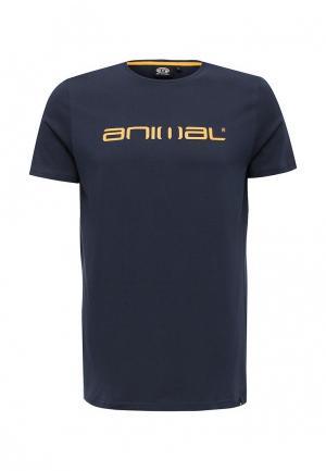 Футболка Animal. Цвет: синий