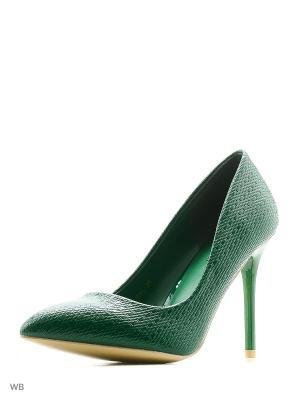 Туфли LANG QI. Цвет: зеленый