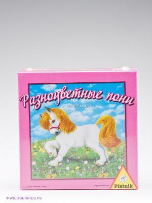 Настольная игра Разноцветные пони Piatnik. Цвет: розовый, зеленый, голубой