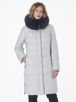 Стеганое пальто OSTRICH. Цвет: молочный