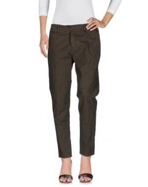 Джинсовые брюки OAKS. Цвет: хаки
