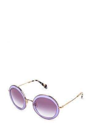 Очки солнцезащитные Miu. Цвет: фиолетовый