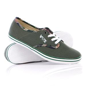 Кеды кроссовки женские Vox Parlor Green/Brown. Цвет: зеленый