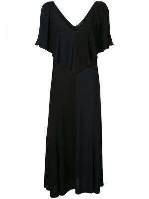 Платье с глубоким вырезом оборкой Derek Lam. Цвет: чёрный