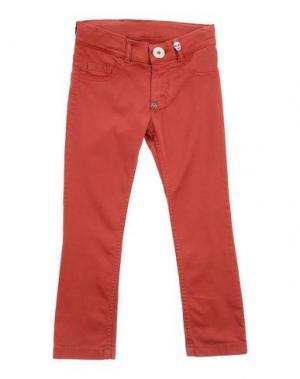 Джинсовые брюки PHILIPP PLEIN. Цвет: красно-коричневый