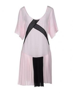 Короткое платье PINKO UNIQUENESS. Цвет: пастельно-розовый