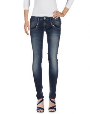 Джинсовые брюки HERRLICHER. Цвет: синий