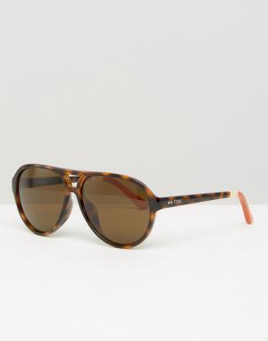 Toms Солнцезащитные очки-маска Marco. Цвет: коричневый