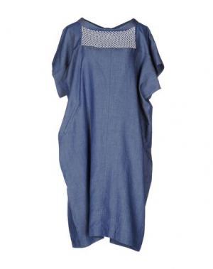 Платье до колена OBLIQUE CREATIONS. Цвет: синий