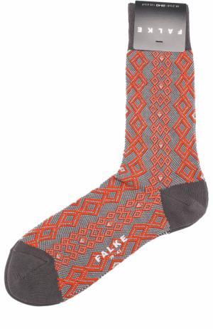 Хлопковые носки Falke. Цвет: коричневый
