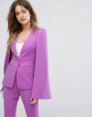 Lavish Alice Пиджак-кейп. Цвет: фиолетовый