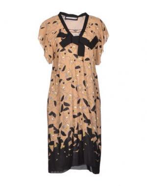Платье до колена AQUILANO-RIMONDI. Цвет: песочный