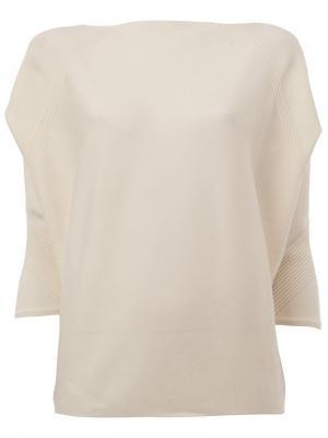 Cashmere texture detail blouse Maison Ullens. Цвет: белый