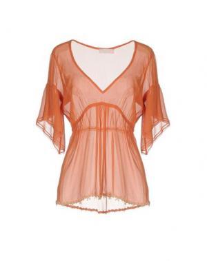 Блузка KRISTINA TI. Цвет: лососево-розовый