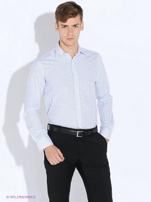Рубашка BAWER. Цвет: белый, синий