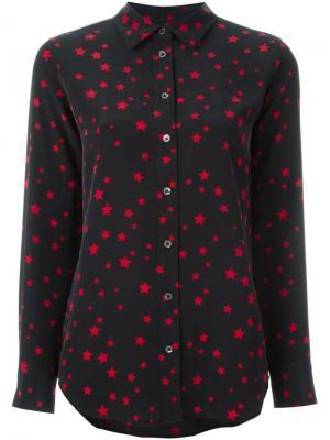 Блузка с принтом звезд Equipment. Цвет: чёрный